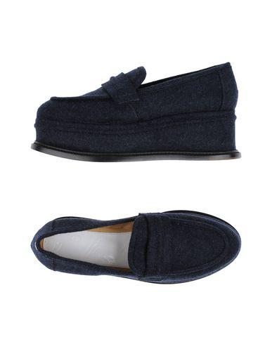 Maison Margiela Loafers In Dark Blue