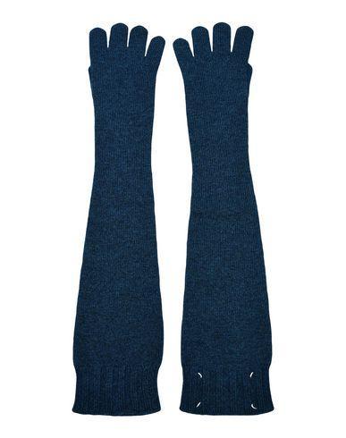 Maison Margiela Gloves In Dark Blue