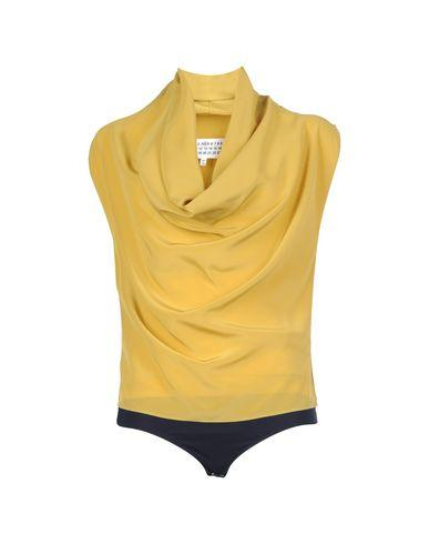 Maison Margiela Silk Shirts & Blouses In Ocher