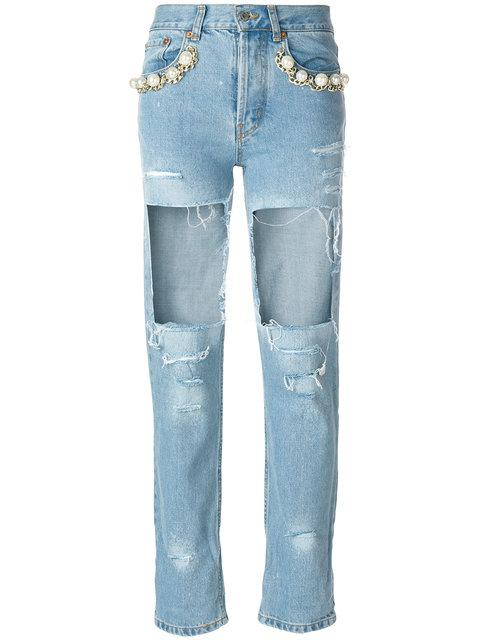Forte Couture Forte Dei Marmi Couture Big Heroes Destroyed Jeans - Blue