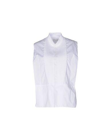 Maison Margiela Solid Color Shirts & Blouses In White