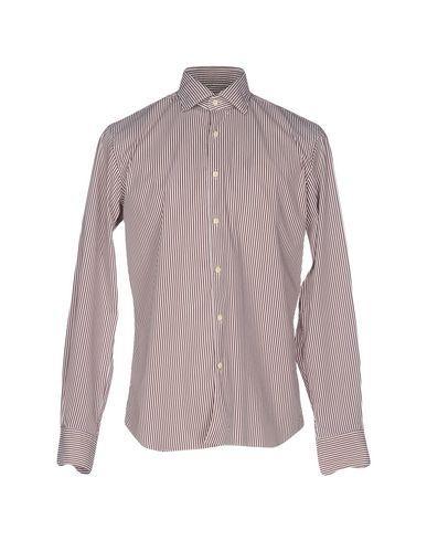 Xacus Striped Shirt In Khaki