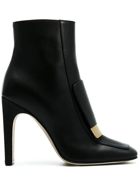 Sergio Rossi The Sr1 Ankle Boots In Black