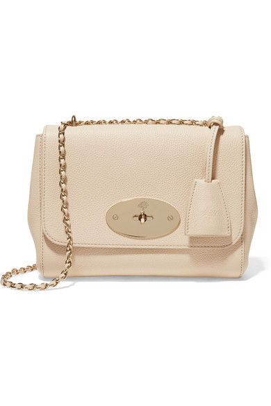 6d5f61d865 Mulberry Lily Small Textured-Leather Shoulder Bag In Butter Cream ...