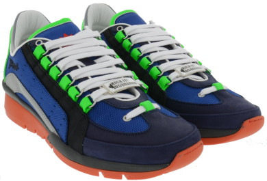 Dsquared2 Men's Shoes Leather Trainers Sneakers 551 In Multicolor