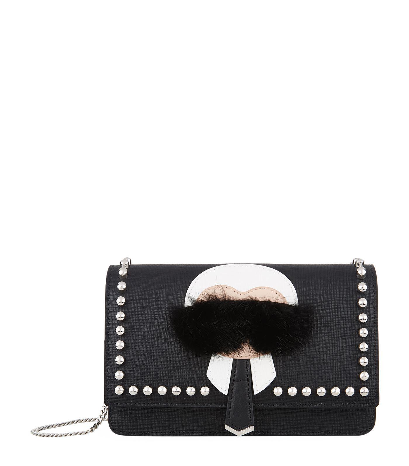 a2ec3a1e33b8 Fendi Karlito Wallet On Chain In Black