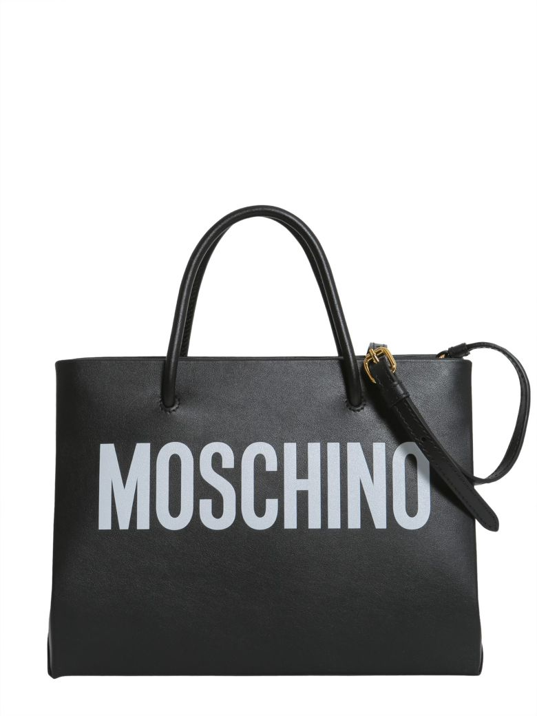 Moschino Shopping Bag With Logo Lettering In Nero
