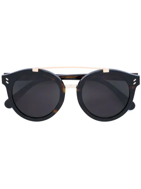 Stella Mccartney Round Frame Sunglasses In Black