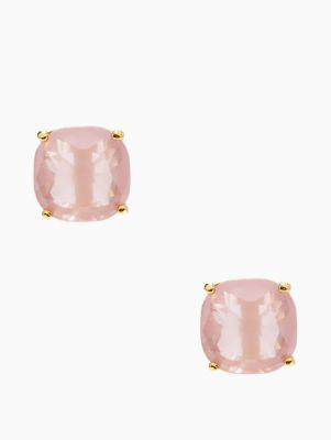 Kate Spade Small Square Studs In Pink