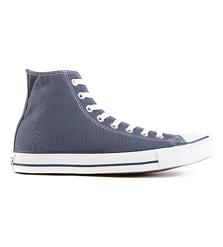 Carvela All Star Blue-canvas High-tops In Navy Canvas