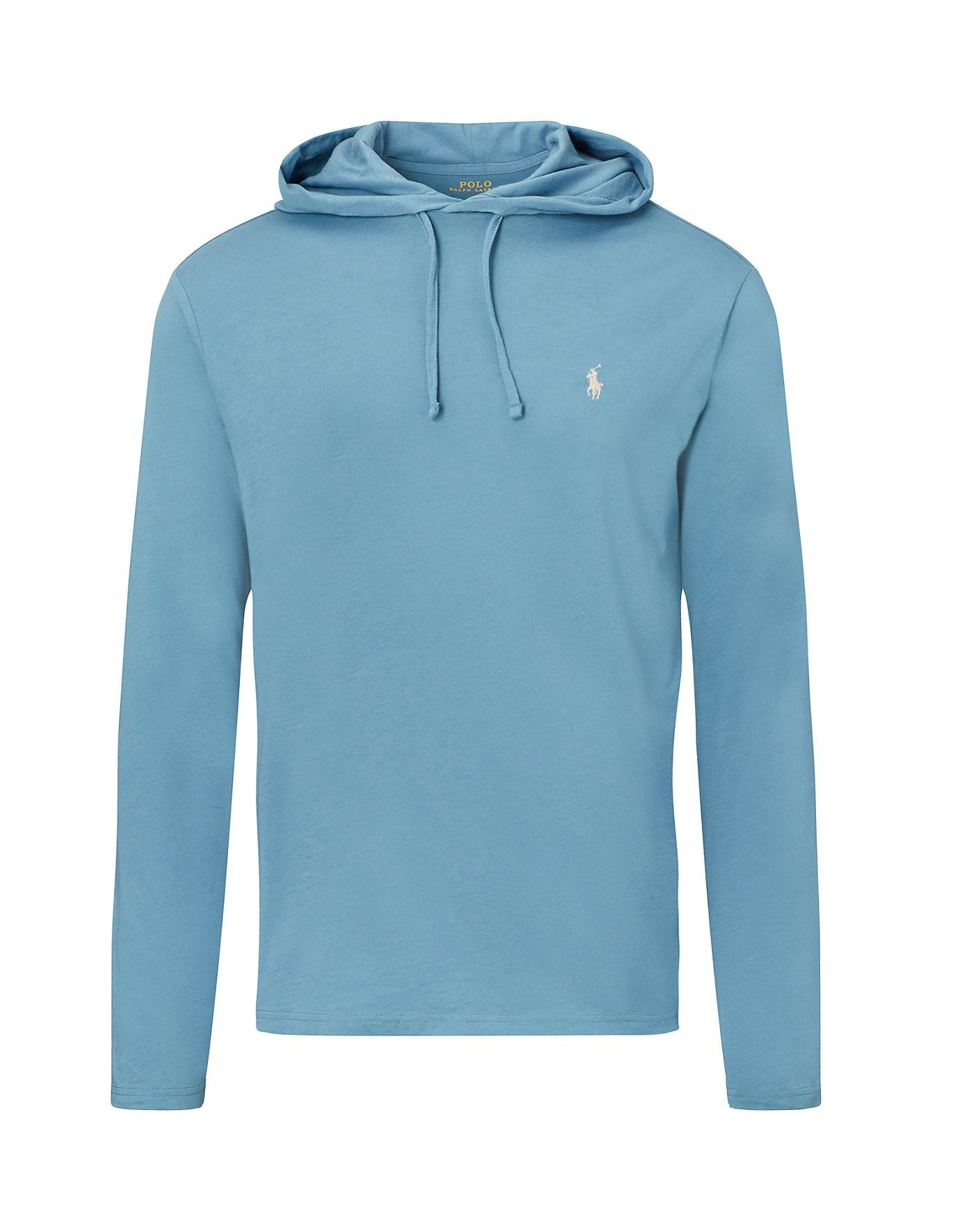 9158cbf981e Polo Ralph Lauren Cotton Jersey Hooded T-Shirt In Blues | ModeSens