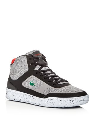 9fb1c28fd Lacoste Explorateur Mid Top Sneakers In Gray Black