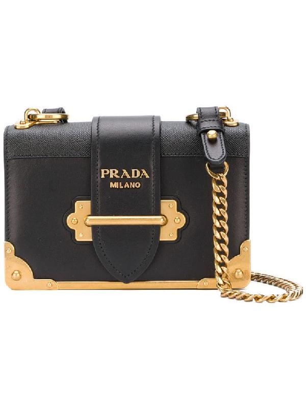 6bac1e6fcfea Prada Cahier Small Leather Trunk Crossbody Bag In Red