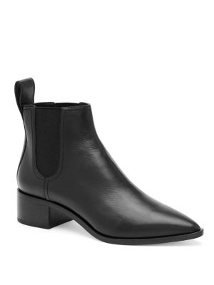 9c53e2fb544e6 Loeffler Randall Nellie Tumbled Leather Chelsea Boots In Black ...