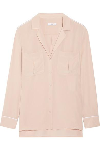Equipment Sonny Washed-Silk Shirt In Blush  5581bf06b