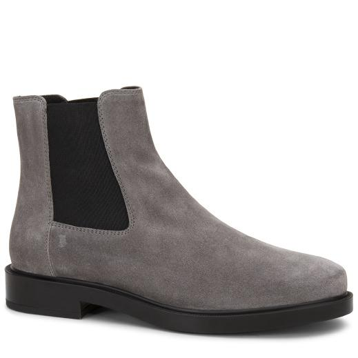 Tod's Ankle Boot In Suede In Grey