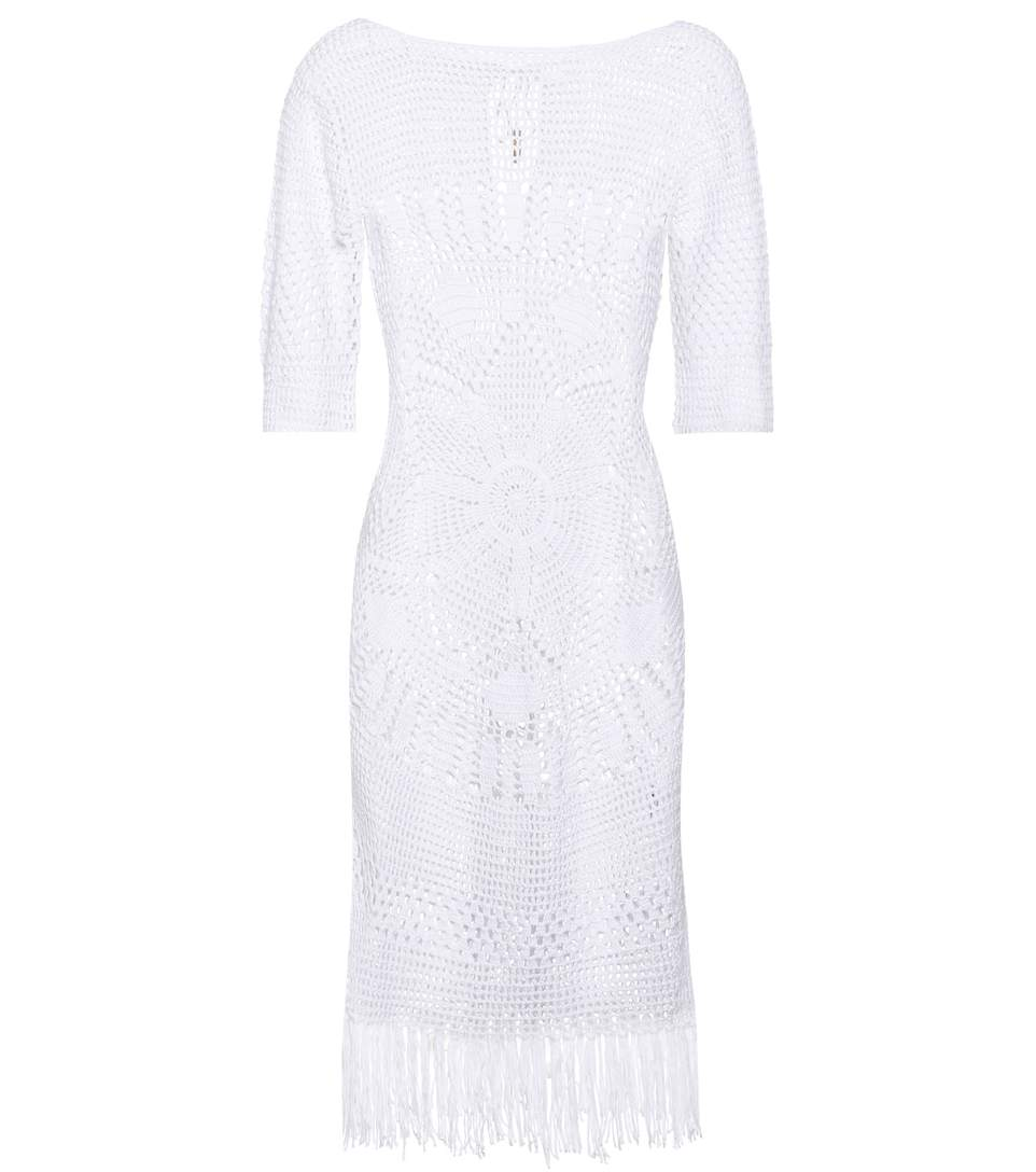 Melissa Odabash Melissa Knitted Cotton Dress In White