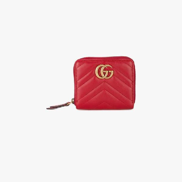 79d0c0fa55a696 Gucci Black Mini Gg Marmont 2.0 Zip Around Wallet | ModeSens