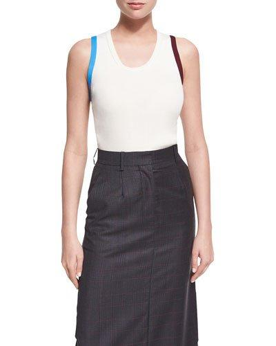 Calvin Klein Collection Contrast-Trim Tank Top In Multi