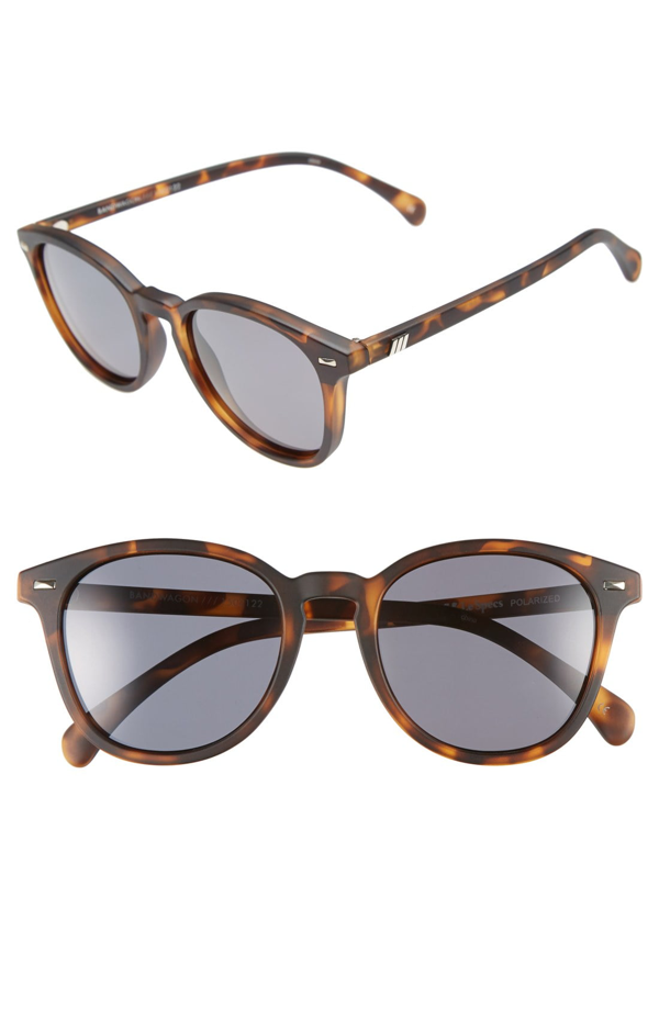 Le Specs Men's Bandwagon Round Sunglasses, 50mm In Turtle Shell