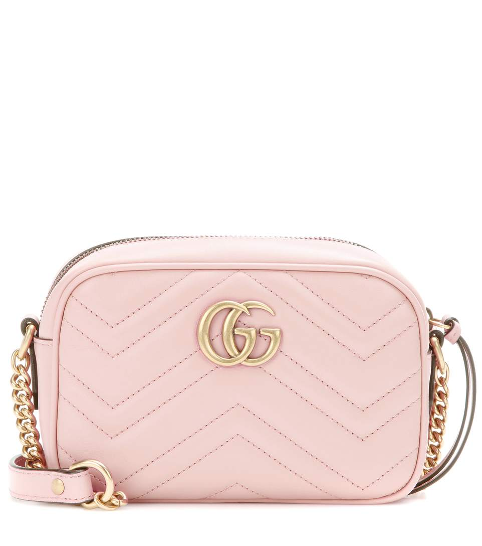 bae0a4e4f Gucci Gg Marmont Mini MatelassÉ Leather Crossbody Bag In Perfect Piek