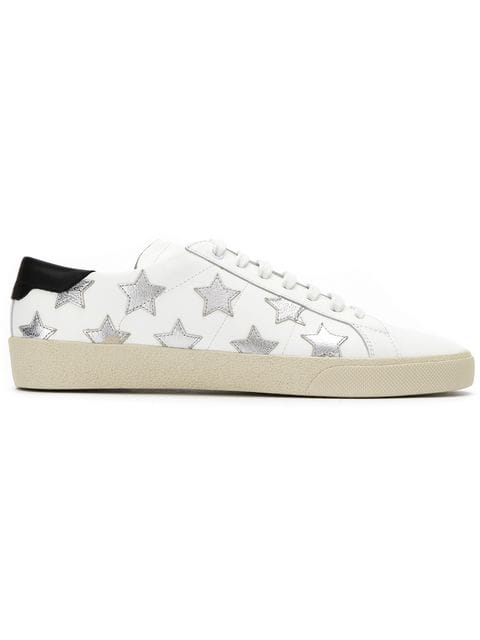 2512ffaba7d Saint Laurent Court Classic Sl/06 Metallic California Sneakers In Leather  In White