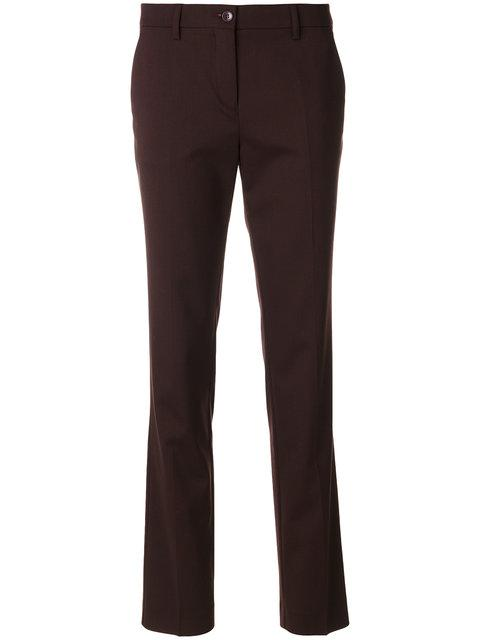 Etro Cropped Capri Trousers In Red