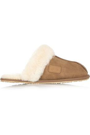 Australia Luxe Collective Woman Shearling Slippers Brown