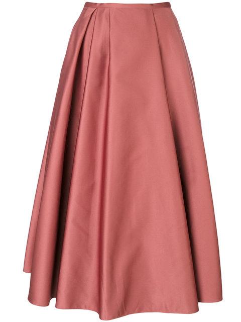 3a5d6ef8db Rochas Pleated Duchess-Satin Midi Skirt In Pink | ModeSens