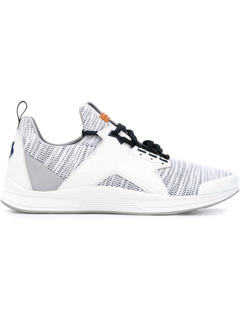 Kenzo Ozzy Leather And Mesh Running Trainers In White