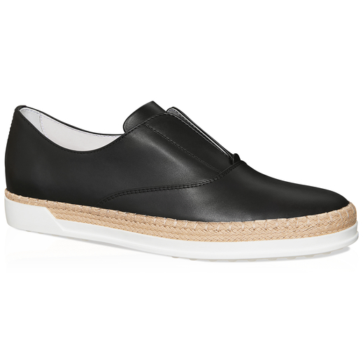 Tod's Leather Slip-on Shoes In Black
