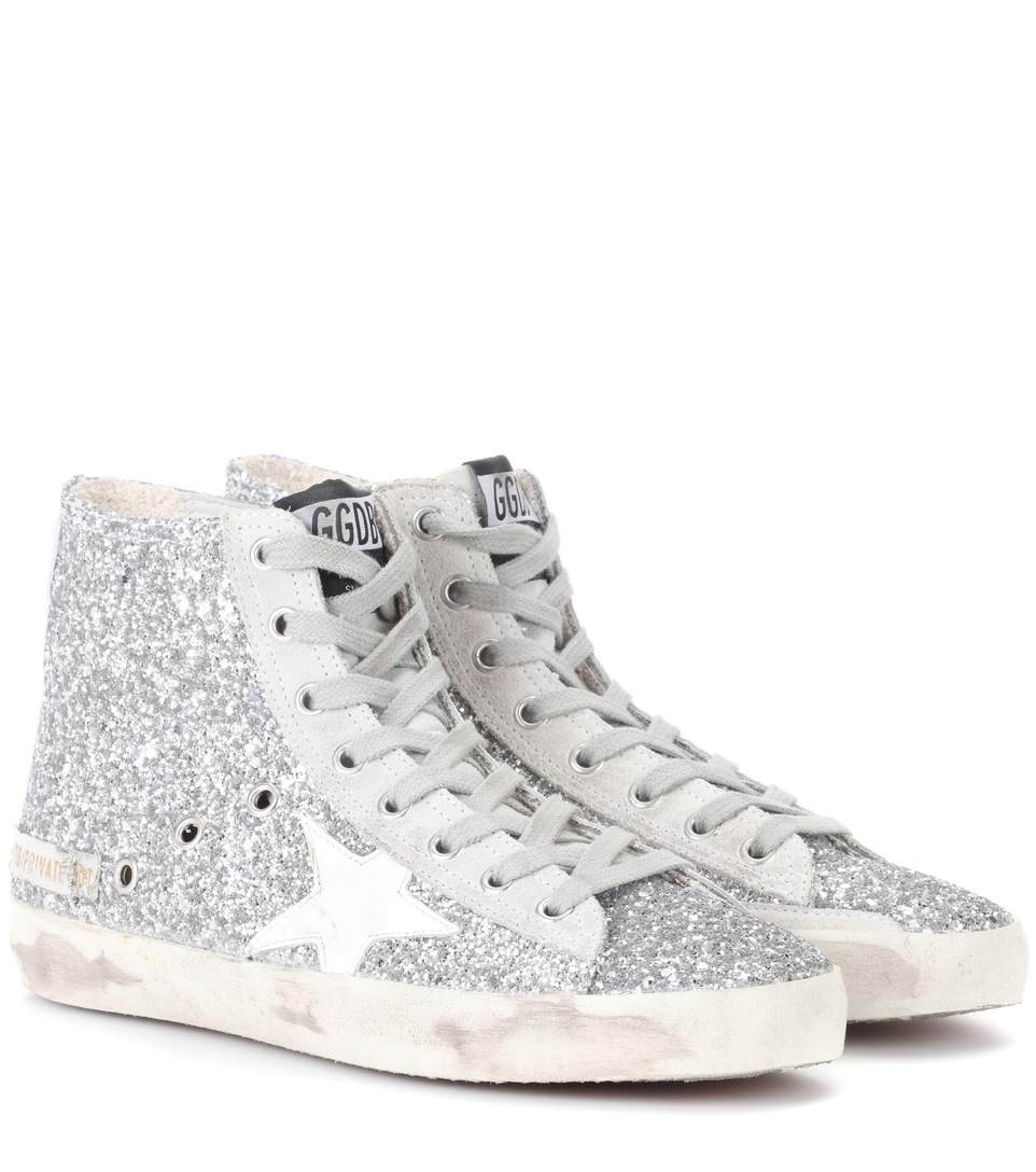 bf2f7858e Golden Goose Exclusive To Mytheresa.Com – Mid Star Glitter High-Top Sneakers  In