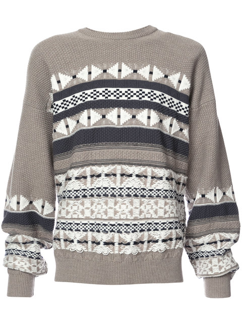 Maison Margiela Geometric Knit Sweater