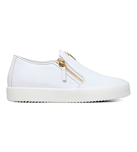 Giuseppe Zanotti Logo-embellished Leather Skate Shoe In White