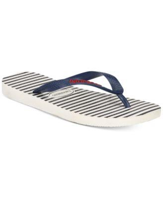 so cheap buy popular new high quality Havaianas Men's Top Nautical Flip-flops Men's Shoes In White/navy ...
