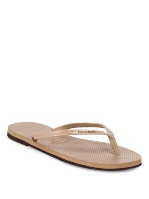 fd9e1e60ebd369 Havaianas Slim Metallic Flip Flops In Rose Gold