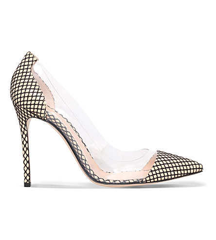 Gianvito Rossi Calabria Marilyn Leather Court Shoes In Nude
