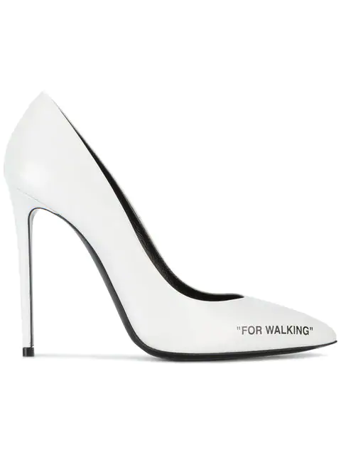 622e31634699 Off-White 100Mm For Walking Leather Pumps In White