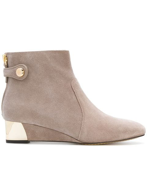 987d05fa40ae Tory Burch Marisa Suede Wedge Booties In French Grey