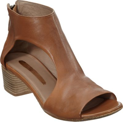 MarsÈLl Asymmetric-Cutout Leather Ankle Boots In Brown