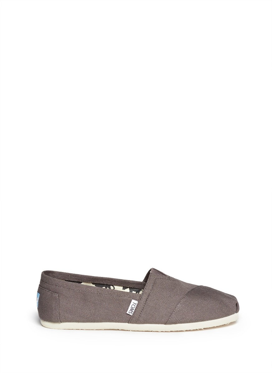 Toms 'classic' Canvas Slip-on (women) In Ash