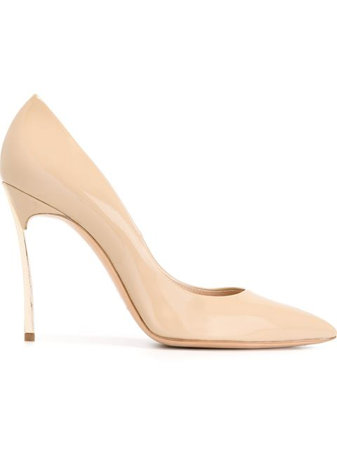 Casadei Pointed Toe Pumps In Nude & Neutrals