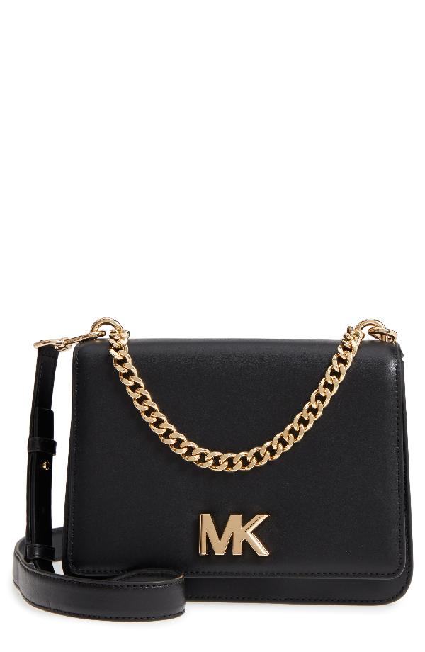 2ecfb56f4df Michael Michael Kors Large Mott Chain Swag Leather Shoulder Bag - Black