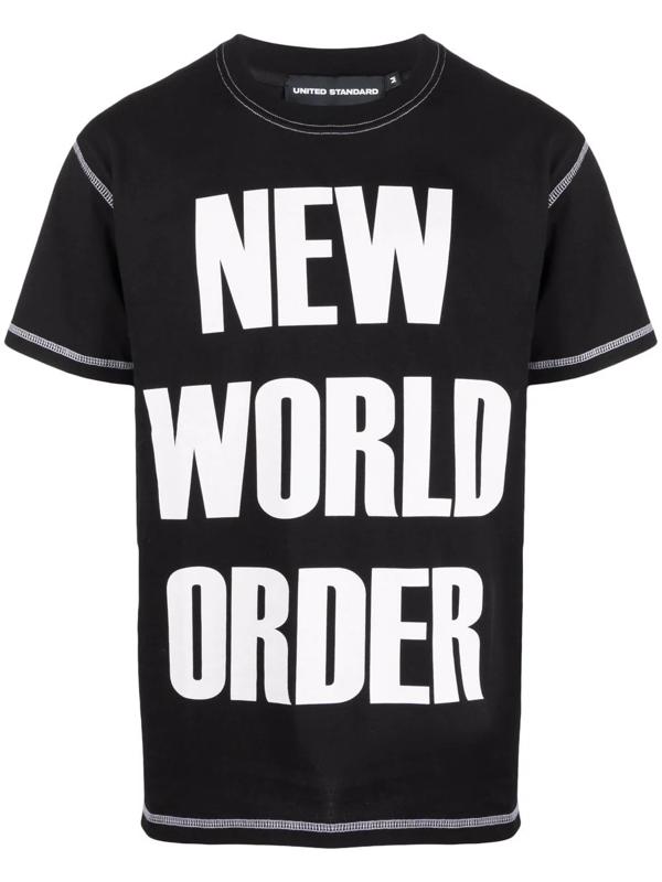 United Standard New World Order Cotton T-shirt In Black