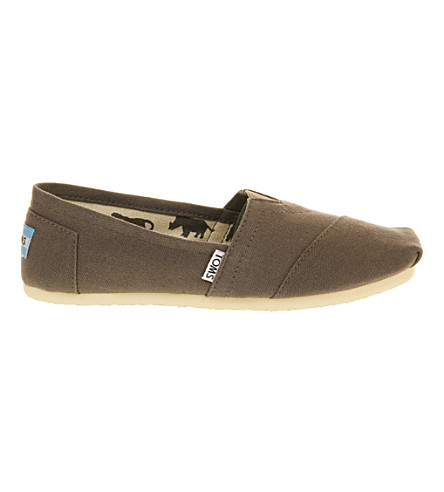 Toms Classic Canvas Espadrilles In Grey