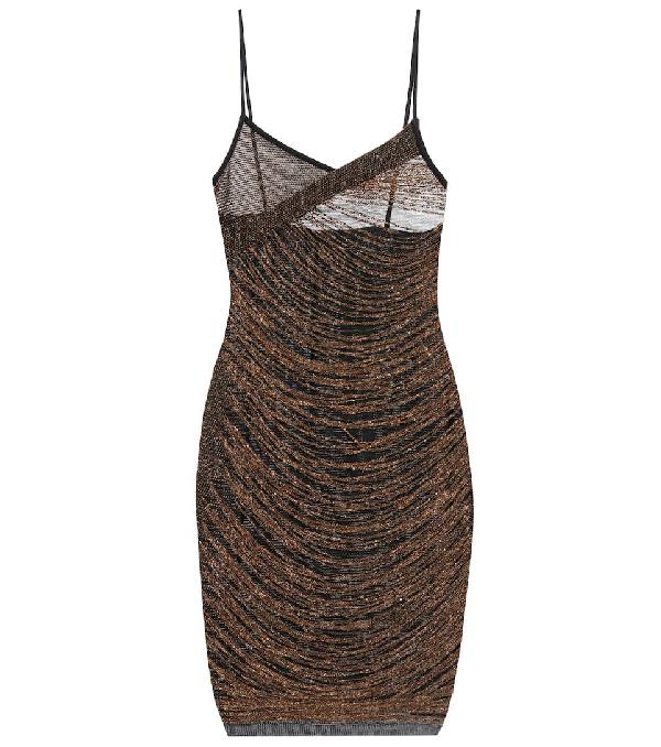 ac02810c Balmain Black Fitted Fringe Dress In Gold | ModeSens