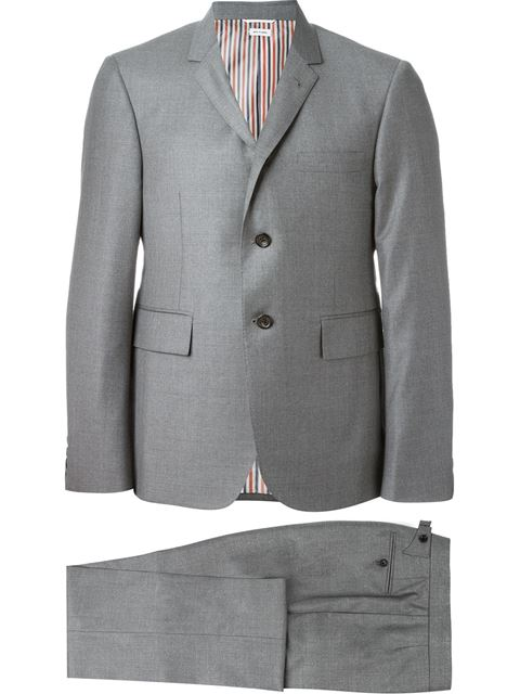 Thom Browne Two Piece Suit  - Farfetch In Grey