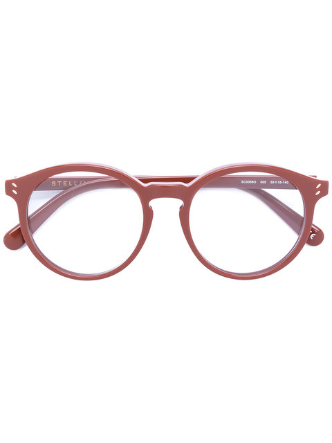 Stella Mccartney Eyewear Round Frame Glasses - Brown