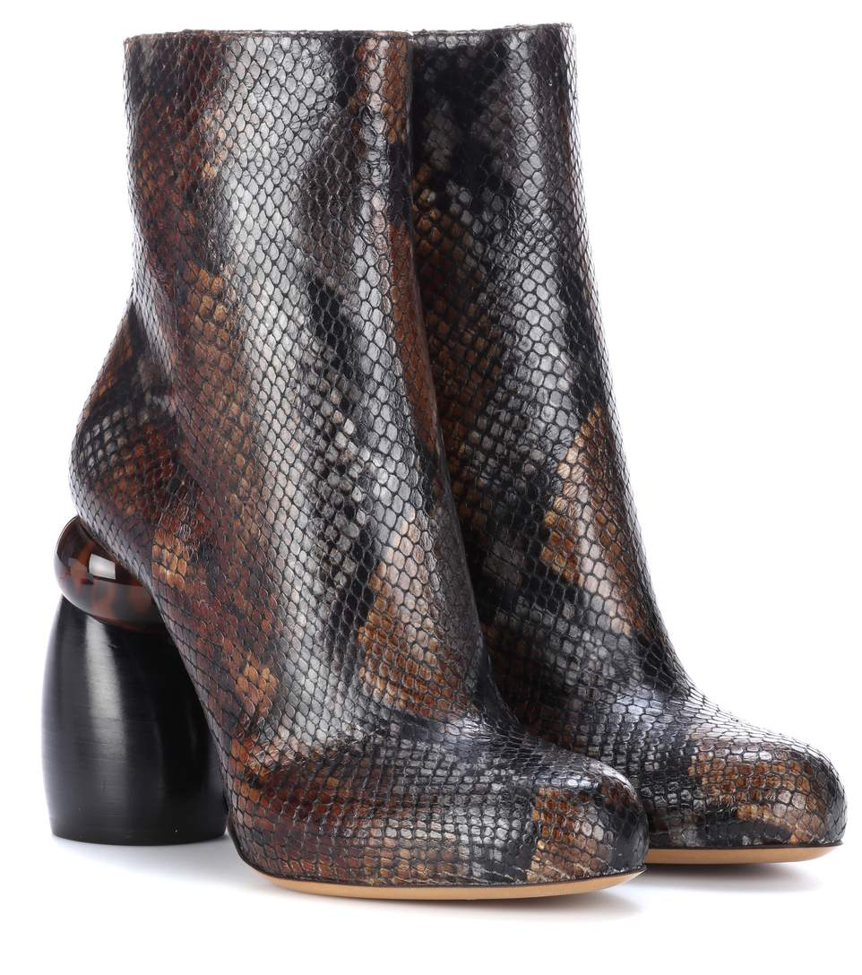 buy online fe4d6 07fce Sculpted-Heel Leather Ankle Boots