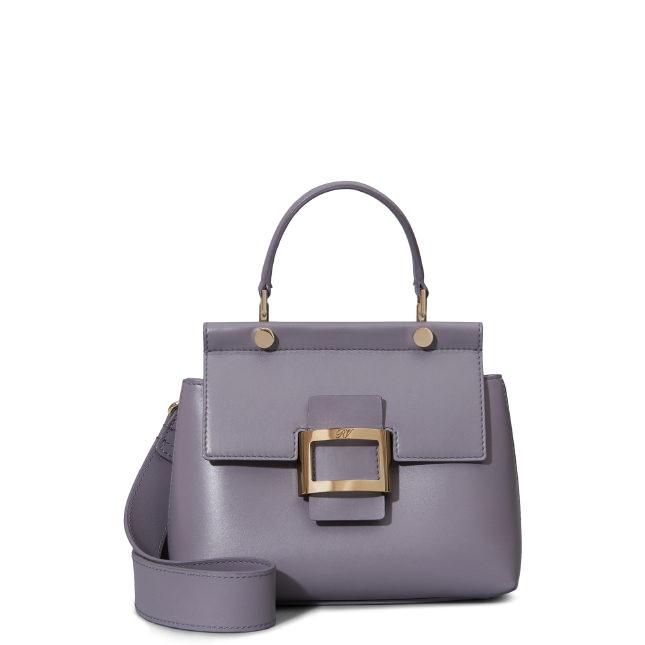 7e5e4b49438 Roger Vivier Viv' Cabas Mini In Leather In Violet | ModeSens